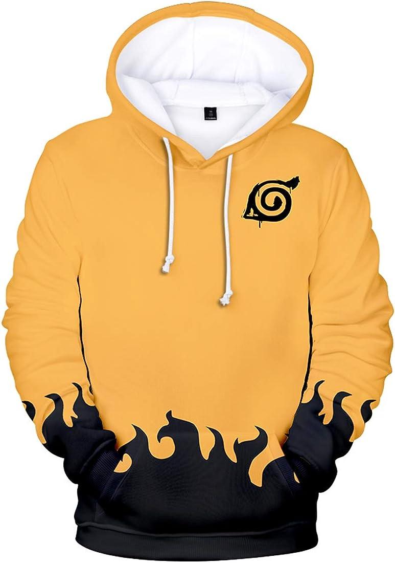 EMILYLE Naruto Boys Hoodie Anime Childrens Fashion Sweatshirt Long Sleeve Pullover