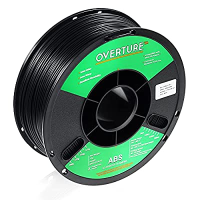 OVERTURE ABS 1.75mm Filament with Build Surface 200mm ?? 200mm 3D Printer Consumables, 1kg Spool (2.2lbs), Dimensional Accuracy +/- 0.05 mm, Fit Most FDM Printer