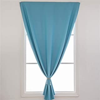 Lazapa Multiple Sizes Curtain for Window, Sky Blue Fashion Elegance Home Decor Darkening Insulating Simple Valances Drapes for Kitchen, Bedroom and Living Room, 1PC