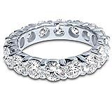4 Carat (ctw) 14K White Gold Round Diamond Ladies Eternity Wedding Anniversary Stackable R...