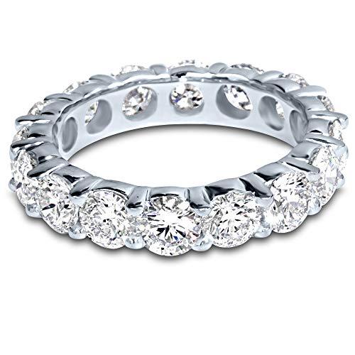 4 Carat (ctw) Platinum Round Diamond Ladies Eternity Wedding Anniversary Stackable Ring Band Value Collection