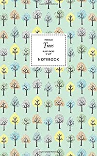 Trees Notebook - Ruled Pages - 5x8 - Premium (Pale Green)