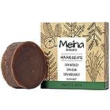 Meina - Bio Haarseife Naturkosmetik, Vegan Shampoo Bar mit ayurvedischen Kräutern, festes Shampoo -...
