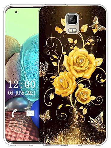 Sunrive Kompatibel mit UMI Rome/Rome X Hülle Silikon, Transparent Handyhülle Schutzhülle Etui Hülle (X Schmetterling und Rose 1)+Gratis Universal Eingabestift MEHRWEG