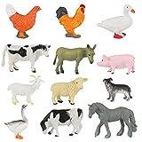 Conjunto de Juguetes Animales de Mini Granja de 12 Piezas Achort Mini Animal de Granja Figura Modelo Juguetes Set de Simulación De Plástico Animales Niños Niñas Juguete Cognición Educativa