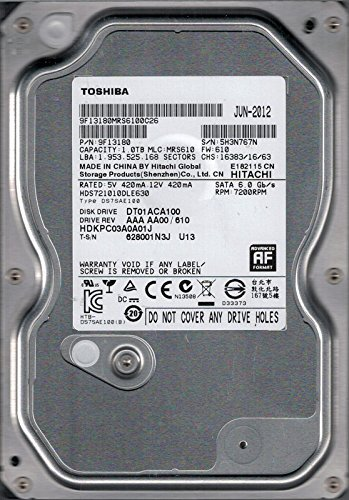 Toshiba HDS721010DLE630 DT01ACA100 AAA AA00/610 P/N: 9F13180 MLC: MRS610 1TB [並行輸入品]