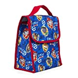 Nickelodeon Paw Patrol Boys Blue Insulated Lunch Bag, Reusable Outdoor Travel Picnic School Lunch Box Collapsible Tote Bag with Front Pocket, Foldable & Multi-use for Kids