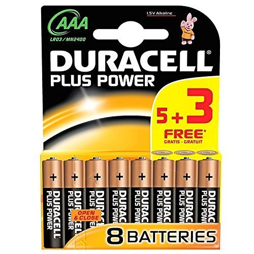 Duracell AAA Batteries 5+3 Free by Duracell