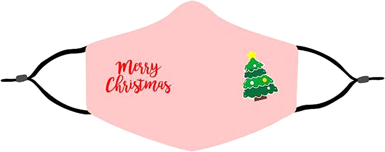 Adult Cute Cartoon Claus Riding Reindeer Sleigh Christmas Half Face Bandana Bandanas Windproof Comfortable Balaclava