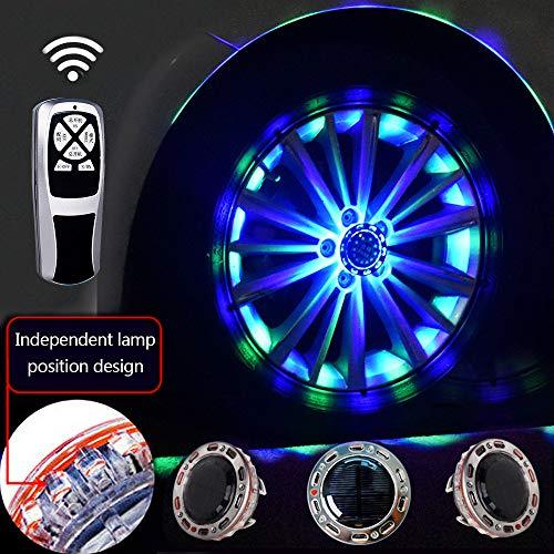 ZH-VBC Unterboden Beleuchtung für Auto, GM Led-Rad-Licht, Solar Energie RGB Flash, Auto-Rad-Felge-Licht-wasserdichte, Auto-Reifen-Dekoration-Zusätze(4pcs)