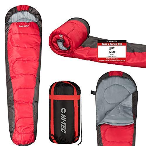 Camping Schlafsack Hi-Tec - Outdoor FrüHling Sommer Herbst | Temperaturbereich 13-25C° | Schlafsack kleines Packmaß 18x38x18 | Schlafsack Ultraleicht nur 1Kg | 3 Jahreszeiten Schlafsack