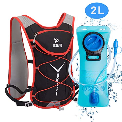 BTNEEU Mochila de Hidratación Ligero  con Bolsa de Agua 2L para Mujer Hombre  6L Respirable