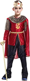 GanSouy Juego de tronos Disfraz de rey Niños Niños Medieval Rey Guerrero Libro Día Disfraz Disfraz Traje