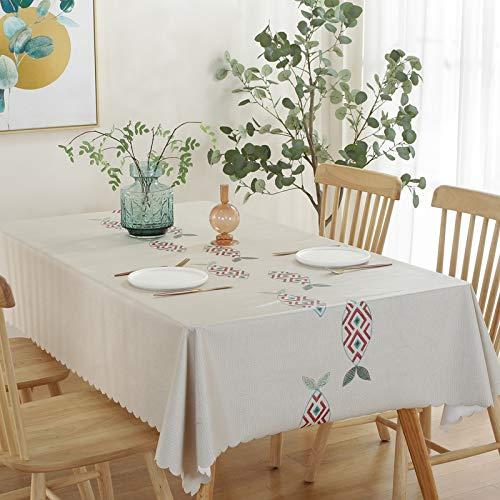Mantel rectangular marca blanca ultra suave a prueba de derrames, poliéster, antidecoloración, cubierta de mesa para boda, restaurante, buffet, picnic135 x 200 cm