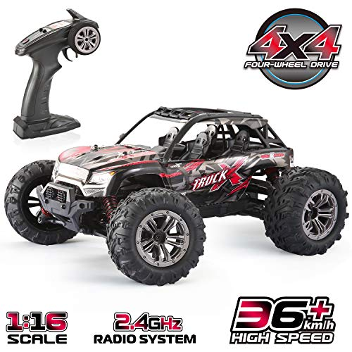 GoStock Remote Control Car, 1:16 RC Cars 4WD 36km/h Off Road Monster Truck Desert Buggy High Speed RC Rock Crawler