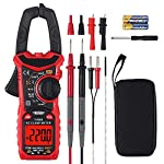 CAMWAY Digital Clamp Meter TRMS 600A AC Current AC DC Voltage 6000counts with LOWZ, LPF Function Test NCV Continuity Capacitance Resistance Frequency Diode Hz Temperature Tester