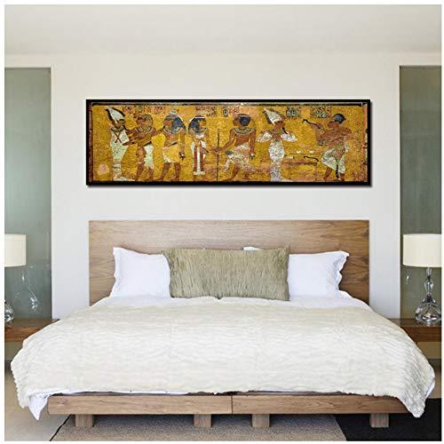 A&D Retro Ägypten Königin Poster Leinwand HD Drucke Malerei Alten Ägyptischen Bild Wandbild Zimmer Wandkunst Nacht Home Decor-60x120 cm Kein Rahmen