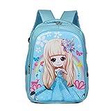 Tinytot Designer Hi Storage School Backpack School Bag for Girls (Sky Blue) 18