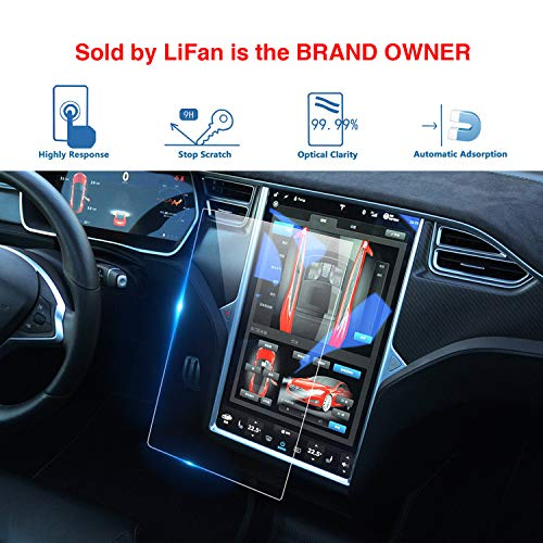 LFOTPP Fit for Tesla Model X/Model S 17-Inch Car Navigation Screen Protector, Center Touch Infotainment Media Tempered Glass Touch Screen Protector for 60 60D 70 70D P85D 90D 100 P100D 75D P90D P100D