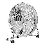 Bodenventilator Windmaschine Metall Tischventilator Ventilator ø30cm 55W Silber