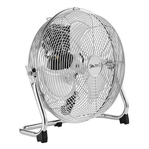 in.tec] Bodenventilator Windmaschine Metall Tischventilator Ventilator ø30cm 55W Silber