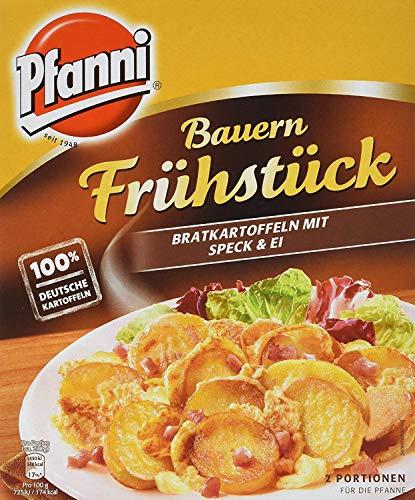 Pfanni Bauern Frühstück Kartoffelfertiggericht Bratkartoffeln mit Speck & Ei 100{a9b8442e5a363a9d5b0e393119c0a0fdfe7d42f6f4afd044e2b347c723f62f66} deutsche Kartoffeln, 400 g 2 Portionen