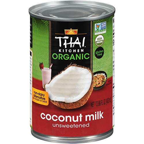 Thai Kitchen Organic Unsweetened Coconut Milk, 13.66 Fl Oz (Pack of 6)