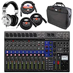 THIS BUNDLE INCLUDES: (1) Zoom LiveTrak L-12 Digital Mixer (1)Behringer HPX2000 High-Definition DJ Headphones (1) Gator G-MIXERBAG-1815 Mixer/Gear Bag (2) Pig Hog PX-TMXM25 1/4-inch to XLR Cable - 25ft & (1) Front Row M20 8mm Mic Cable, XLR to XLR, 2...