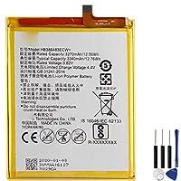 新品HUAWEI携帯電話用バッテリーHUAWEI HB386483ECW+内蔵バッテリーFor Huawei G9 Plus Honor 6X Maimang 5 MLA-AL00 MLA-AL10 G9Plus交換用のバッテリー 電池互換3.85V 5000mAh/19.25Wh
