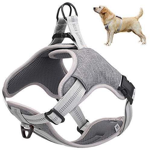 Cooyes No Pull Dog Harness,Medium Gray, Anti Pul True Love Harness,Best...