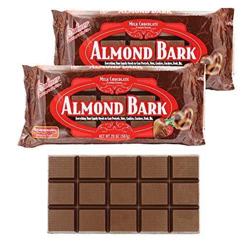 Milk Chocolate Almond Bark Coating, Candy Coating, Microwaveable Almond Coating For Baking, Toppings, and Sweets, 20oz (2-Pack)