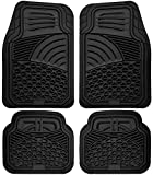 Floor Mats for Cars Trucks SUVs (4 Piece Set) All Weather Heavy Duty Rubber Car Accessories Best for Auto Truck SUV Van Waterproof Interior Automobiles Liners Covers - Black Semi Custom Tactical Mat