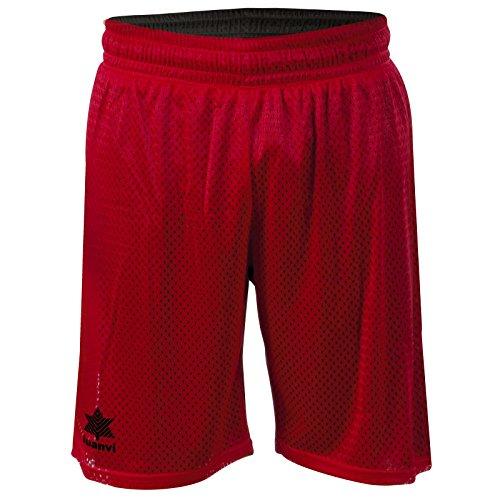Luanvi Triple Bermuda Reversible de Basket de Baloncesto, Unisex Adulto, Rojo y Negro, XL