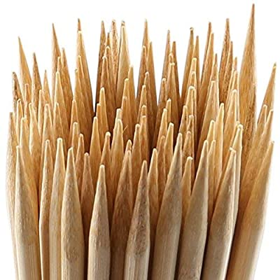 """MalloMe Bamboo Marshmallow Roasting Sticks 5mm Thick Extra Long Heavy Duty Wooden Hot Dog Smores Sticks Shish Kabob Skewers Fire Pit Campfire Cooking Kids, 30"""" L, 100 Piece"""