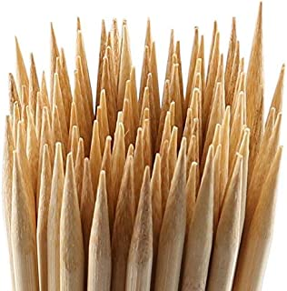 MalloMe Bamboo Marshmallow Roasting Sticks 5mm Thick Extra Long Heavy Duty Wooden Hot Dog Smores Sticks Shish Kabob Skewers Fire Pit Campfire Cooking Kids, 30