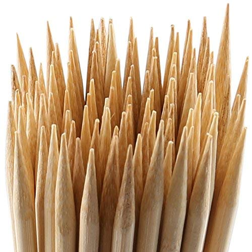 MalloMe Bamboo Marshmallow Roasting Sticks 5mm Thick Extra Long Heavy Duty Wooden Hot Dog Smores Sticks Shish Kabob Skewers Fire Pit Campfire Cooking Kids, 30' L, 100 Piece