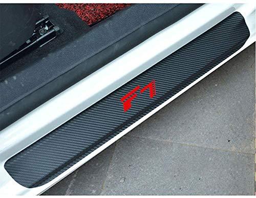 TQGG Türschwellenschutzplatte für Great Wall Haval F7, Kohlefaser Autotürschwellenschutz Willkommen Pedalplattenschutz Autozubehör, 4-TLG