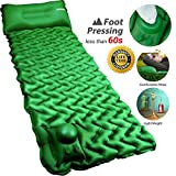POPCHOSE Camping Sleeping Pad with Air Pillow Compact Ultralight Inflatable Camping Mat Built in...