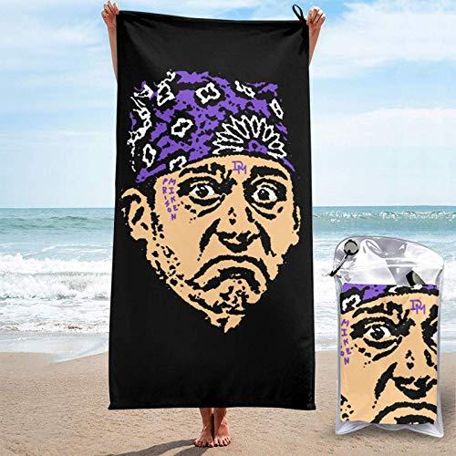 songyang Toalla de playa de microfibra Prison Mike Qui Dry Toalla de baño ultra suave y ligera para hombres mujeres viajes camping yoga al aire libre Comt Toallas