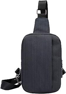 Aemall Men Chest Sling Bags | Multipurpose USB Charging Interface Single Shoulder Crossbody Small Backpack | Zipper Pocket...