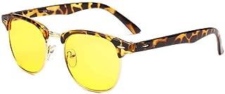 Aiweijia Unisex Fashion PC Half Rim Frame Resin Lens Protective Optical Glasses