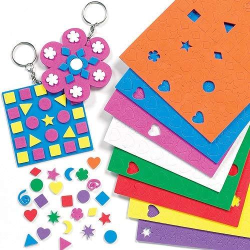Baker Ross Großpackung Mini-Moosgummi-Aufkleber - für Kinder zum Basteln und Dekorieren - 1200 Stück