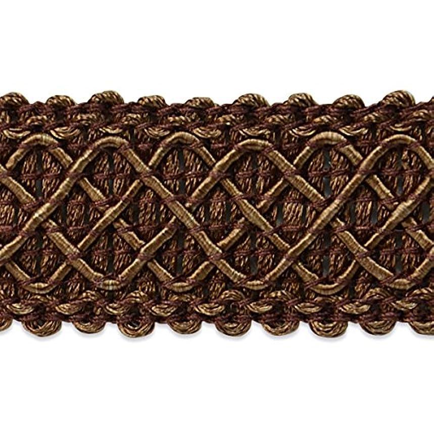 Expo International Jolie Lattice Braid Trim Embellishment, 20-Yard, Chocolate