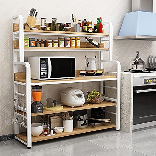 Estante de cocina Estante de la cocina de 5 capas de pie, 300 kg de carga de carga de...