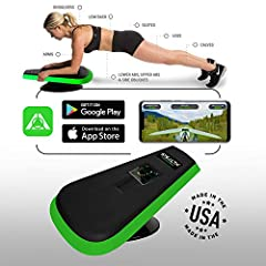 """PROUDLY MADE IN THE USA PLAY GAMES on your smartphone by using your Abs. The Stealth Body Fitness app is FREE and includes 2 games """"Stealth Speed Gliding"""" and """"Galaxy Adventure"""" available on both Android and iOS smartphones. It tracks your daily prog..."""