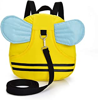 Kabinga YM 78 Cute Bee Baby Small Backpack for Kids 1-2-3 Years Waterproof with Anti-lost Strap, 9.4 3.2 10.2 Inches, (Yel...