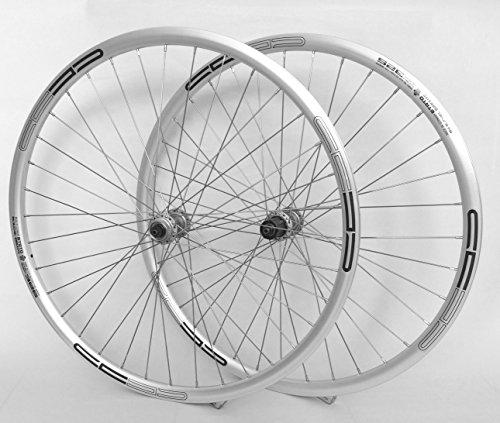 Vuelta 28 Zoll Fahrrad Laufradsatz 622x17 Sportrad Silber - Deore 535 sb - NIRO sb. 36 Loch DISC