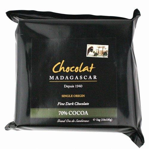 ショコラマダガスカル クーベルチュール チョコレート (ダーク70%, 1KG)