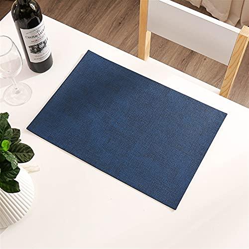 Materias de mesa de cuero placamat Conjunto de 6 resistentes al calor fáciles de limpiar limpiar impermeables Lavables modernos al aire libre para la mesa de comedor de la mesa de patio (del mismo col