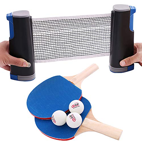 Amazing Deal Table Tennis Set with 1 x Net / 2 x Rackets / 3 x Balls, Ping Pong Sports Trainning Set...